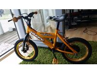 JUST 10GBP - KIDS cycle in eXcellent condition with Balancing wheels***HUFFY INFERNO