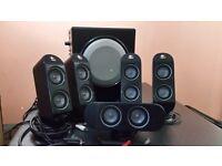 Logitech x-530 5.1 surround sound pc multimedia speakers