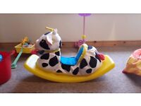 LITTLE TIKES - Soft Rocking Cow **Excellent Condition**