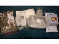 Manual Breast Pump and storage bags