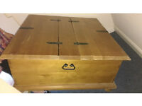 Large Double Pine Blanket/Storage box/Chest