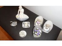 "seven ornaments/trinkets 3 of which are crystal i(Ladro)? £10 the lot ""nice tidy little lot """