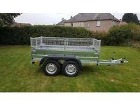 New trailer 8.2 x 4.3 twin axle-build with mesh and braked 2700kg £ 1700 inc vat