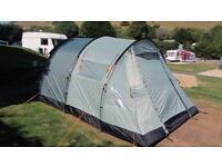 Vango 5 man tent with awning
