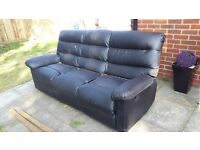 **FREE** Faux leather reclining sofa