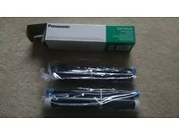 GENUINE NEW Sealed! Panasonic replacement film for Fax machine! 2-rolls value pack KX-FA55X