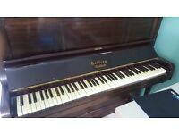 Traditional mahogany piano,playing order. FREE TO COLLECT FROM CROYDON -Delivery 5 miles £40 Gd Fl