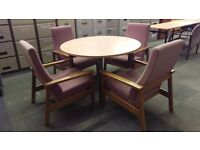 Meeting desk with 4 cushioned chairs