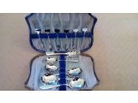 Six dessert spoons and forks-Sheffield Manufacture -Chrome on Nickel