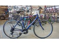 DAWES MOJAVE HYBRID BIKE 700C WHEELS 21 SPEED BLUE GOOD CONDITION