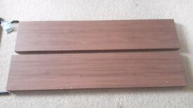 2 Wood Laminate Floating Shelves