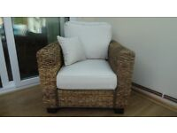 new Kensington abaca rattan chair was £470 now £175