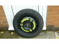 Space saving spare wheel