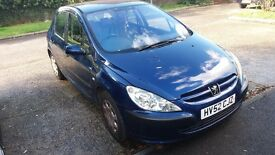Peugeot 307 no MOT will consider offers.
