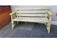 handmade benches painted or paint free
