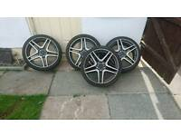 19 inch alloys. From a merc
