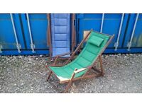 WOODEN FRAMED DECK CHAIRS