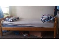 Wooden-Frame Single Bed