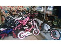 variety of bicycles