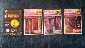 **Free** 4 Packs of flowering seeds
