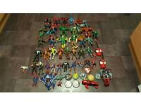 Job lot of marvel figures