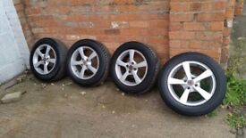 HONDA ALLOY WHEELS x 4 195 60 15