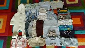 0-3 month baby boy clothes 36x items