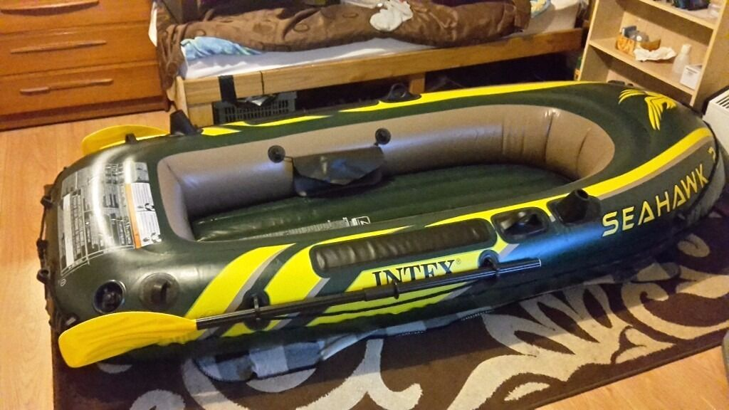 Seahawk 2 man person inflatable fishing boat dinghy in for Seahawk fishing boat