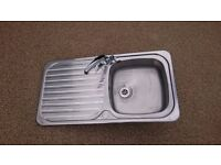 KITCHEN SINK STAINLESS STEEL WITH CHROME TAP INCLUDED