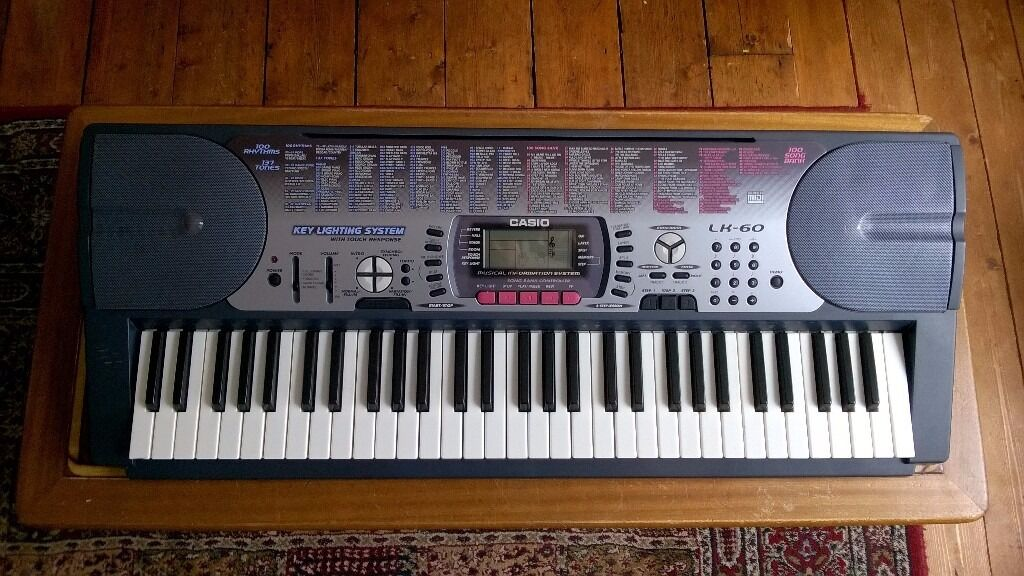 casio lk 60 electronic keyboard in ibrox glasgow gumtree. Black Bedroom Furniture Sets. Home Design Ideas