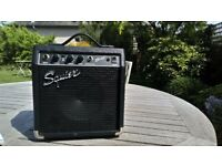 Squier Electric Guitar Amplifier with Electric Guitar Lead