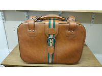Vintage Style Suitcase Faux Leather
