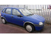 P reg CORSA 1.2 ,very LOW MILEAGE warranted 29500 only £295