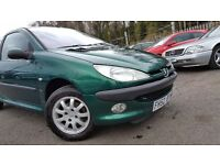 Peugeot 206 1.4 LX 3++ MOT FEB 17+JUST SERVICED++1 PREVIOUS OWNER++6 MONTH WARRANTY INCLUDED