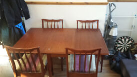 Mahogany dining room table & 4 chairs. open to offers...