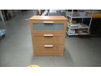 BRIMNES chest of 3 drawers WAS £60 IKEA CARDIFF #BARGAINCORNER