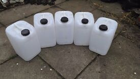 Five 25ltr water container