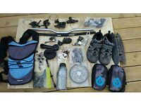 Job lot of mountain bike spare parts