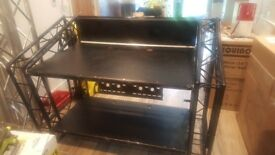 Lite Console MK2 DJ Booth With Plasma Bracket
