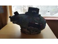 SUPERB SUBMARINE WITH FACE ON FRONT FOR FISH TANK-ORNAMENT