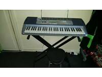 Casio keyboard stand and chair