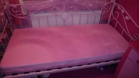 Girls pink single bed with matress