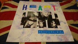 """Heart - There's The Girl (remix) 12 CL 473 (1987) 12"""" Single"""