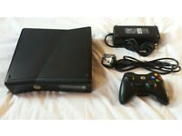 Xbox 360 S/ Slim Black + Official Power Supply + Faulty Controller for sale  Battersea, London