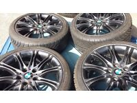 GENUINE BMW MV2 18'' ALLOY WHEELS WITH TYRES FOR 1.3,AND Z SERIES MINOR SCUFF