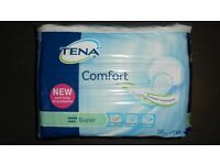 """Tena Comfort incontinence pads, 36 in pack """"super"""""""