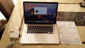 Apple MacBook Pro 15 Retina Core™ i7-4770HQ 16GB SSD MJLQ2LL/A August 2015