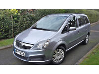 2007 VAUXHALL ZAFIRA 1.9 CDTI,7 SEATS,LOW MILEAGE,ONE OWNER,6 SPEED,VERY GOOD COND.