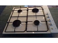 Neff White Gas 4 Burner Hob