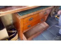 antique solid pine chest of draws